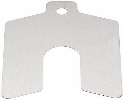 Stainless Steel Slotted Shim, 1mm Thick, Slot Width, Slot Depth, Metric