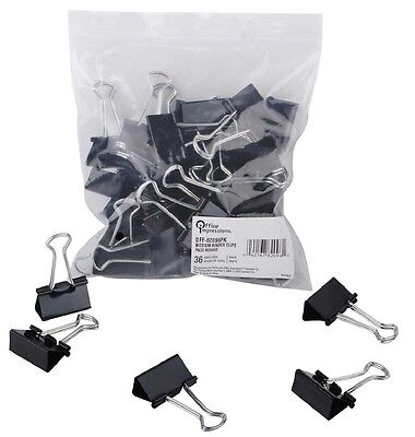 Office Impressions Medium Binder Clips 36ct OFF 82096 PK - Brand New Item