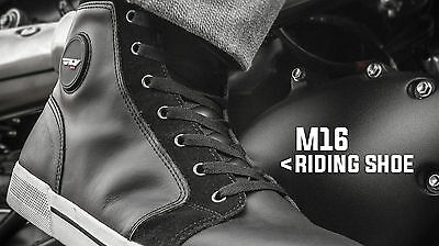Street Motorcycle Riding Casual Waterproof Chuck Taylor Style Tennis Shoes NEW