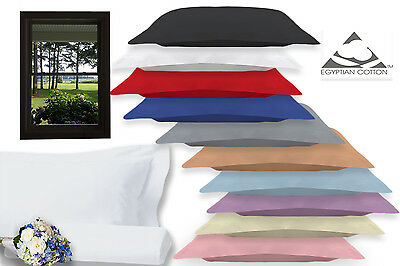 Pair Pillow Cases 100 % Egyptian Cotton 200 Thread Count Oxford Pillow Cases