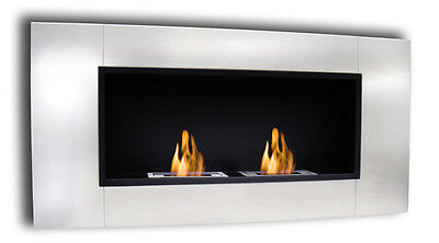 "44"" WALL INSERT ETHANOL FUEL ST STEEL FIREPLACE SMOKELESS/FIRE SAFE - FINAL SALE"