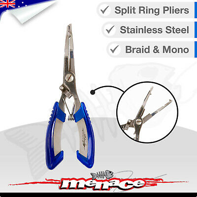 SPLIT RING PLIERS - STAINLESS STEEL - Fishing Mono & Braid Cutter