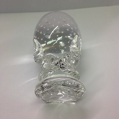 Most Wonderfull Stueben glass controlled bubbles paperweight egg.