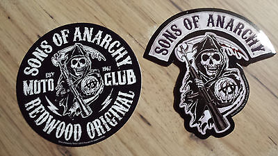 Sons Of Anarchy Redwood Original & Reaper Logo Stickers S.O.A. FX Channel