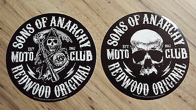 Sons Of Anarchy Redwood Original Reaper & Skull Stickers S.O.A. FX Channel
