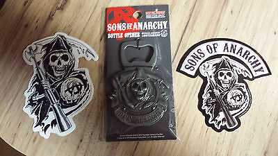Sons Of Anarchy Reaper & Logo Stickers + Bottle Opener S.O.A. FX Channel