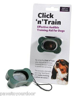 Clicker training device, dog, horse, parrot, sharples n grant click n train