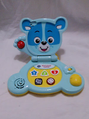 Vtech Bear's Baby Laptop Blue Educational Toy 6 to 36 Months EUC