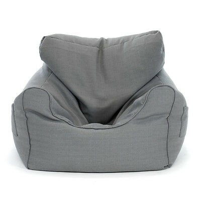Large Luxury Bean Bag Cover Armchair Beanbag Sofa Chair Armrest Side Pocket  Grey 466e25c66fd31