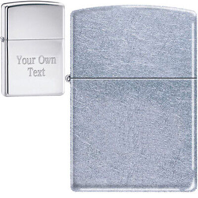 Zippo Custom Lighter Free Engraving STREET CHROME 207 GREAT GIFT! Pocket