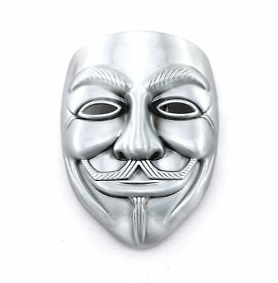 Vendetta Mask Novelty Metal Belt Buckle