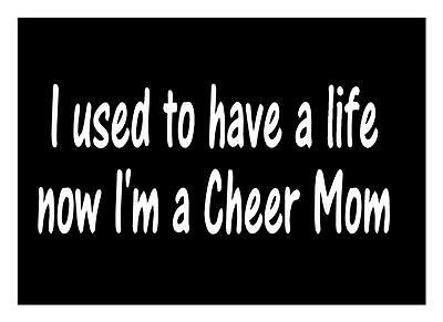 Cheer Mom Life 3.5X9 Sports Football Basketball Pom Pom Spirit Car Window Decal