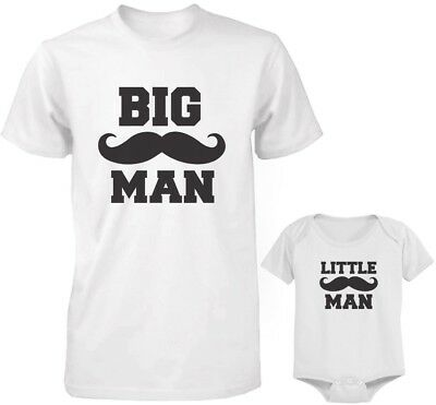 f9cda1215 Dad and Baby Matching White T-Shirt and Bodysuit Set - Big Man and Little