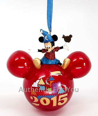 NEW Walt Disney World Parks Mickey Mouse 2015 Glass Icon Ornament Ice Cream Bar