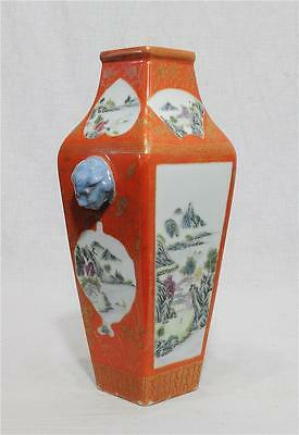 Chinese  Famille  Rose  Porcelain  Vase  With  Mark    M152