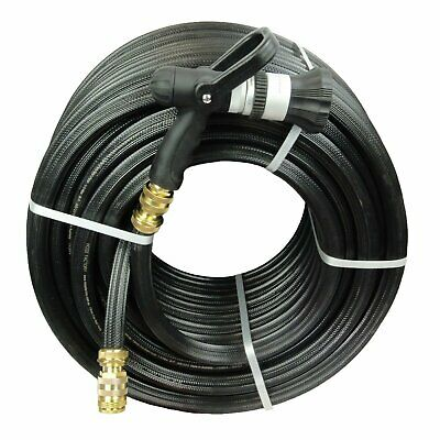 """Fire Reel Water Hose 100M with 19MM / 3/4"""" Brass Fittings & Fire Nozzle Kink Fre"""