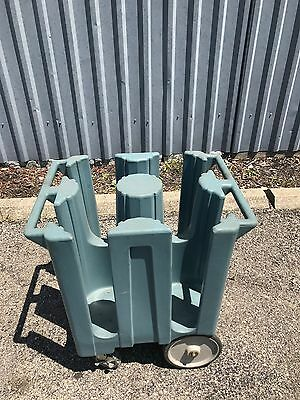 Lot Of 5 Cambro + 2 More Plate Holders Dish Caddy Dolly Poker Chip - Send Offer