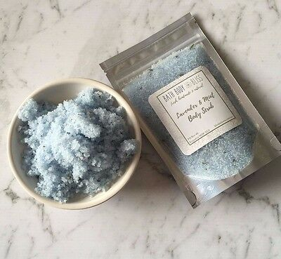 Lavender & Mint Body Scrub Natural Organic Coconut Exfoliate  FREE Sydney Post
