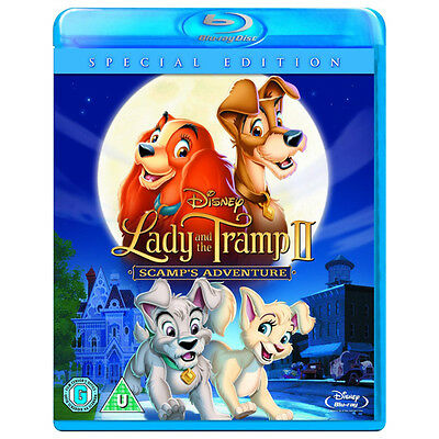 LADY AND THE TRAMP II SCAMP'S ADVENTURE BLU-RAY DISC REGION-FREE NEW DISNEY
