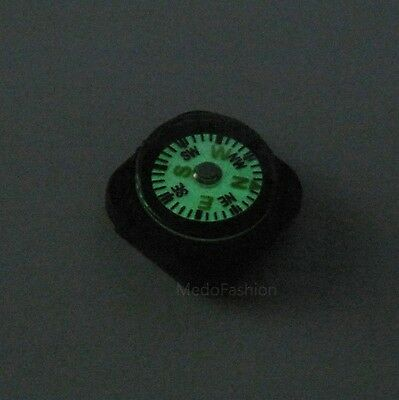 2pcs Slide On Watch Band Compass Luminous Glow in Dark Compass Paracord Strap