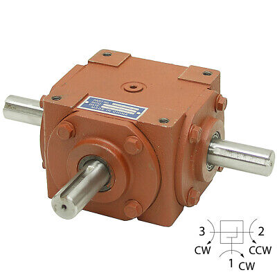 1:1 Right Angle Gearbox 32 Hp - 3 Keyed Shafts  13-1423-3K