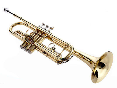 Fever Gold Bb Trumpet With Case, Mouthpiece And Trumpet Stand, GOLDTRUM