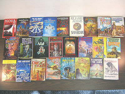 SCIENCE FICTION/FANTASY NOVELS, WHOLESALE LOT #108. (25) TITLES! FREE SHIPPING!