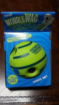 Wobble Wag Giggle Ball  As Seen On Tv Brand New Dog Toy indoor outdoor Fun sound