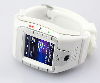 Unlocked 1.4 Fashion Wrist Mobile Watch Cell Phone GSM Camera Touch White Black