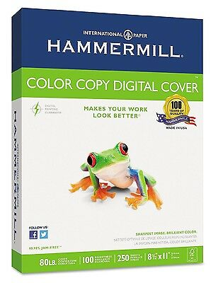 Hammermill Color Copy Digital Cover Stock 8-1/2 x 11 White 250 Sheets