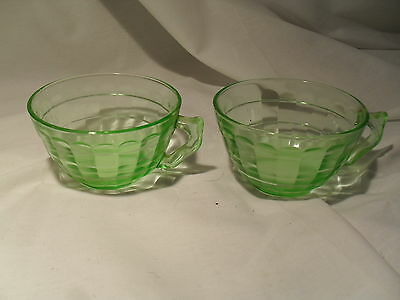 Anchor Hocking Block Optic cup and saucer set of 2