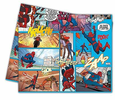 AMAZING SPIDERMAN PLASTIC TABLECLOTH COVER BIRTHDAY PARTY SUPERHERO BLUE RED BOY