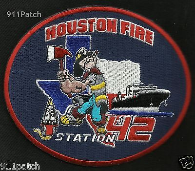 """HOUSTON, TX - Station 42 """"Popeye"""" FIREFIGHTER Patch Fire Department"""