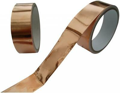 EMI COPPER FOIL SHIELDING TAPE 25mm x 4m LOW IMPEDANCE CONDUCTIVE ADHESIVE