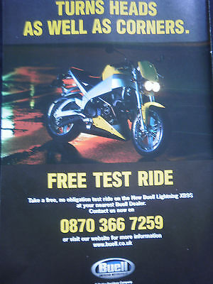 BUELL LIGHTNING XB9S - 1 page COLOUR ADVERT