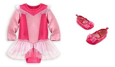 Disney Store princess Aurora Cuddly Bodysuit costume or baby shoes UCHOOSE NWT