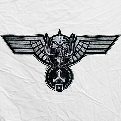 "Motorhead Hammered Wings Logo Embroidered Big Patch Lemmy Kilmister 12"" Warpig"