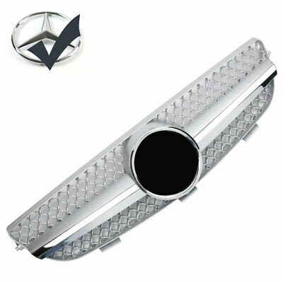 Grille Sport for Mercedes W209 CLK Silver and Chrome AMG LOOK