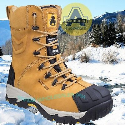 Amblers FS998C S3 WP HRO+W/P+SRC Safety Boots - Honey - 200g thinsulate lining
