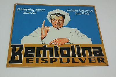 Bechtolina Eispulver Plakatives Blechschild zum Thema Eis -  D um 1950 Tin Sign