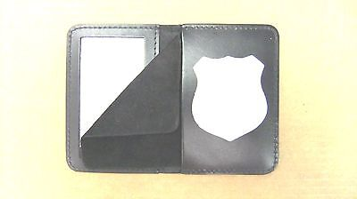NYPD Officer's Style Police Shield & ID Case Holder Cut Out CT-14 LG Leather