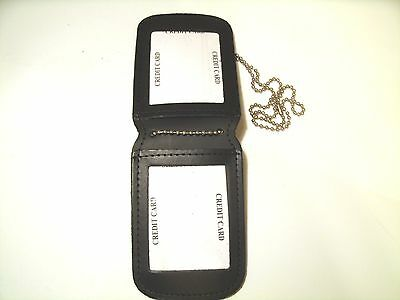 Double ID Holder Police, Security,Professionl, Agent ID For Neck / Belt Leather
