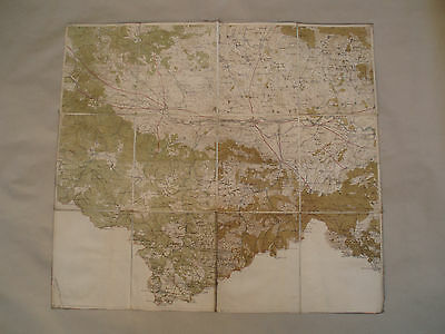Vintage Bulgarian Map Of The City Of Plovdiv