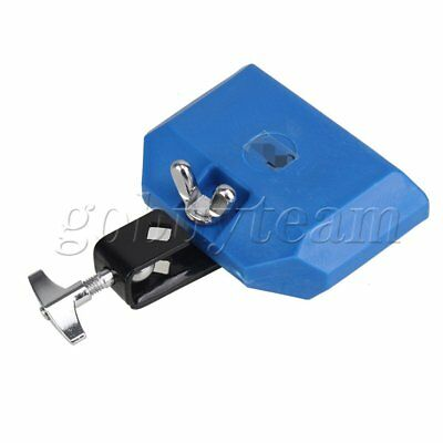 Plastic Percussion Block For Latin Drum Instrument Hardware Gig Jam Wood Blue