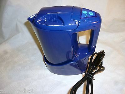 Travel Kettle With Stand 1.0L Hgv 24 V Lorry 250W Std Plug Camping Caravan Blue