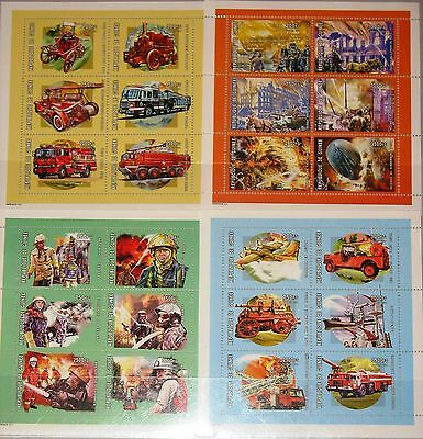 GUINEA 2001 Klb 3302-25 Firefighting History Feuerwehr Firefighter Cars Autos **