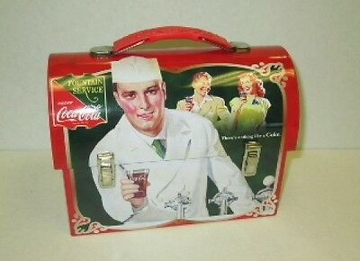 DRINK COCA COLA - COKE - Retro Tin Lunchbox Metal Workman Dome Vintage Look New