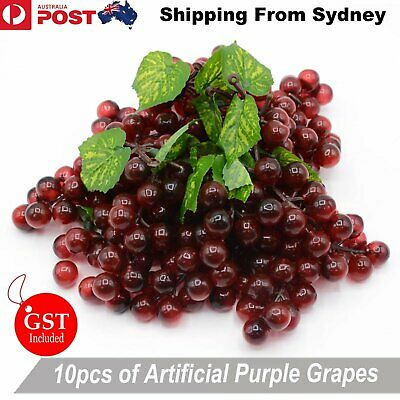 10X Artificial Purple Grape Grapes Fake Fruit Home Party Wedding Shop Decoration