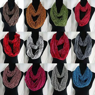 US SELLER-lot wholesale of 10 floral animal print infinity scarf