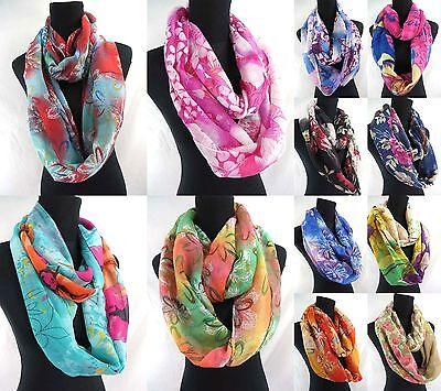 US SELLER-wholesale lot of 5 trendy fashion infinity scarf Womens loop wraps
